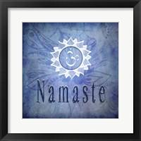 Framed Chakras Yoga Namaste V1