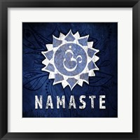 Framed Chakras Yoga Symbol Namaste