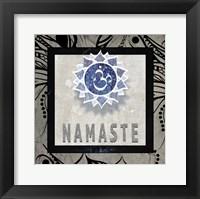 Framed Chakras Yoga Tile Namaste V2