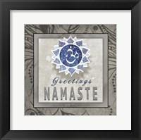 Framed Chakras Yoga Tile Namaste V3