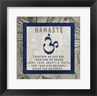 Framed Chakras Yoga Tile Namaste V4
