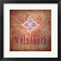 Framed Chakras Yoga Muladhara V1