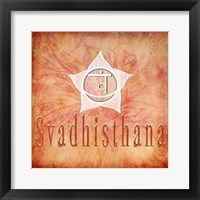 Framed Chakras Yoga Svadhisthana V1