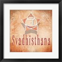 Framed Chakras Yoga Svadhisthana V3