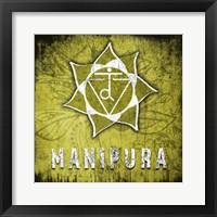 Framed Chakras Yoga Symbol Manipura