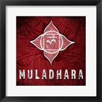 Framed Chakras Yoga Symbol Muladhara