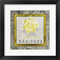 Framed Chakras Yoga Tile Manipura V1