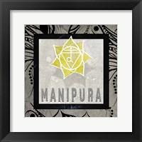 Framed Chakras Yoga Tile Manipura V2