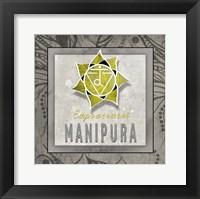 Framed Chakras Yoga Tile Manipura V3