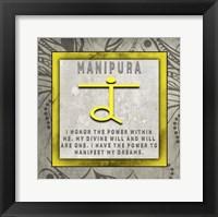 Framed Chakras Yoga Tile Manipura V4