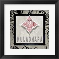 Framed Chakras Yoga Tile Muladhara V2