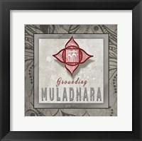 Framed Chakras Yoga Tile Muladhara V3