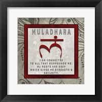 Framed Chakras Yoga Tile Muladhara V4