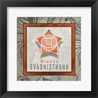 Framed Chakras Yoga Tile Svadhisthana V1