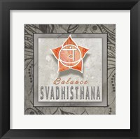 Framed Chakras Yoga Tile Svadhisthana V3
