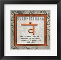 Framed Chakras Yoga Tile Svadhisthana V4
