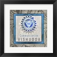 Framed Chakras Yoga Tile Vishudda V1