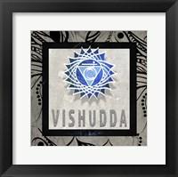 Framed Chakras Yoga Tile Vishudda V2