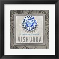 Framed Chakras Yoga Tile Vishudda V3