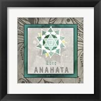 Framed Chakras Yoga Tile Anahata V1