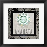 Framed Chakras Yoga Tile Anahata V2