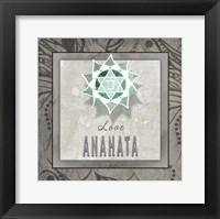 Framed Chakras Yoga Tile Anahata V3