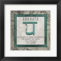Framed Chakras Yoga Tile Anahata V4