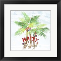 Framed Xmas Palm Trees