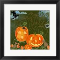 Framed Halloween Jack-O'-Lanterns