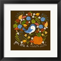 Framed Autumn Bird