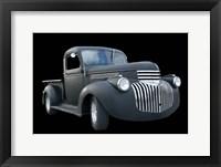 Framed Grey Chevy Pickup Truck