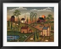 Framed Village Day