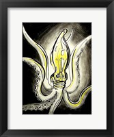 Framed Light Bulb Squid