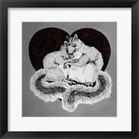 Framed Squirrel Love