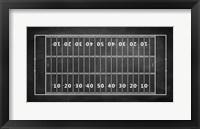 Framed American Football Field Chalkboard