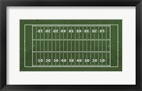 Framed American Football Field Green