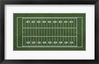 Framed American Football Field Green