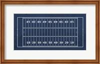 Framed American Football Field Blue