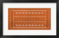Framed American Football Field Orange