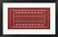 Framed American Football Field Red
