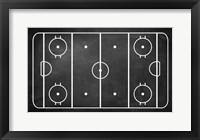 Framed Ice Hockey Rink Chalkboard