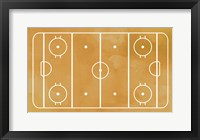 Framed Ice Hockey Rink Yellow Paint