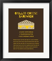 Framed Grilled Cheese Sandwich Recipe Brown