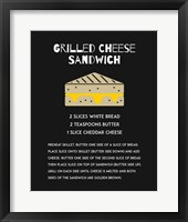 Framed Grilled Cheese Sandwich Recipe Black