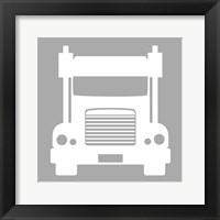 Framed Front View Trucks Set I - Gray