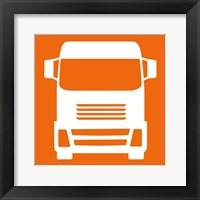 Framed Front View Trucks Set I - Orange