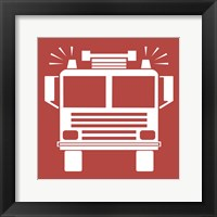 Front View Trucks Set II - Red Framed Print