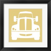 Front View Trucks Set II - Yellow Framed Print