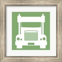 Framed Front View Trucks Set II - Green
