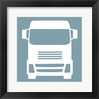 Front View Trucks Set II - Blue Framed Print
